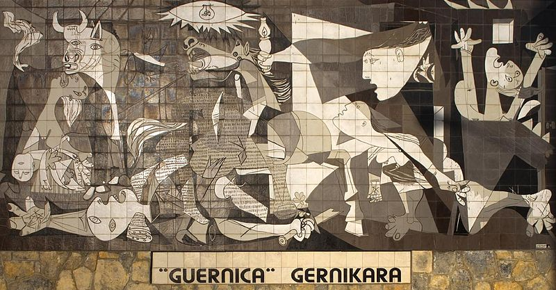 "Mural of ""Guernica"" by Picasso"