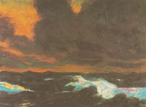 The Sea 1930. Emil Nolde.