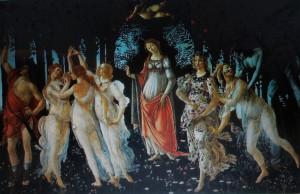 Botticelli 002 300x194 Spring. ( La Primavera ) 1482, Sandro Botticelli.
