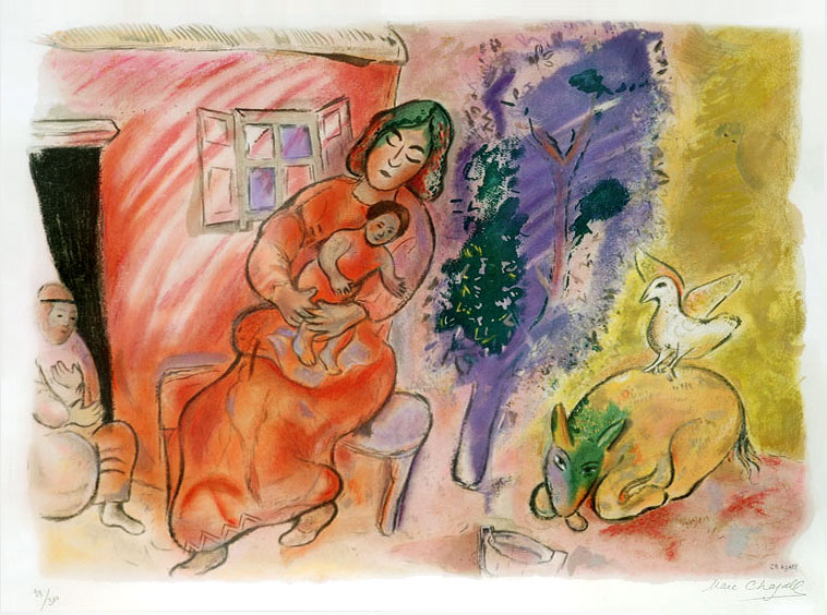 Maternity by Marc Chagall.