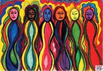 colourful women