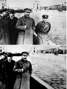 Revisionism - Executed Yezhov removed from photo of Stalin