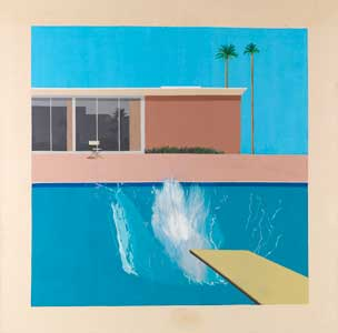 bigger splash 67 Pop Art Movement. David Hockney. A Bigger Splash 1967.