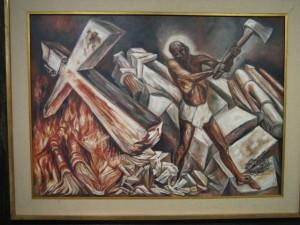 Orozco_Christ_cuts_his_Cross