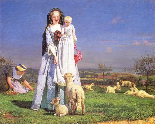 brown8 Ford Madox Brown 1821   1893.The Pretty Baa Lambs 1851.