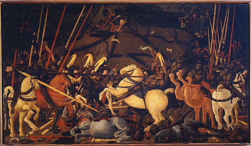 san romano Paolo Uccello 1397   1475. The Battle of San Romano 1432.