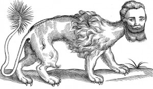 Topsell-manticore-engraving