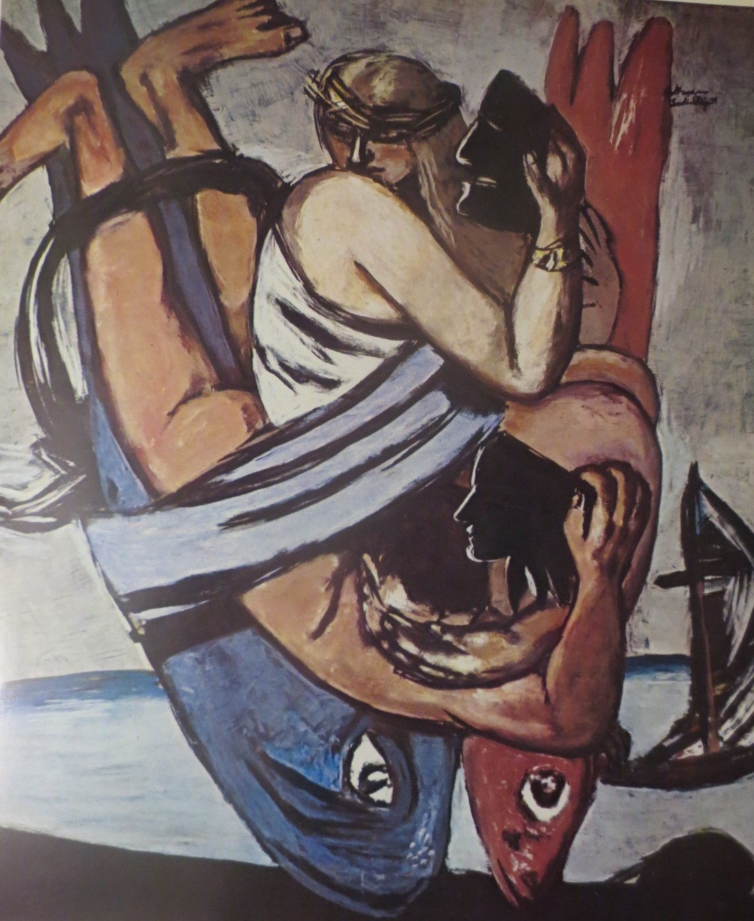 IMG 0721 2 Max Beckman 1884   1950. German The Journey of the Fishes 1934.