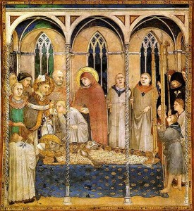 Funeral of St Martin of Tours Simone_Martini