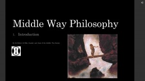Middle Way Philosophy 1 Introduction