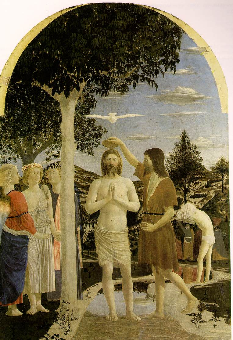 Piero baptism of Jesus