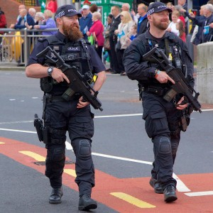 Photograph of armed police officers