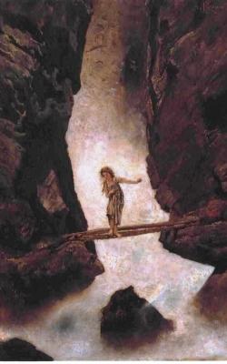 Anton_Romako_-_Am_Wasserfall